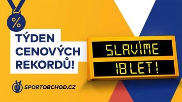 Oslavte 18. narozeniny se SportObchod.sk