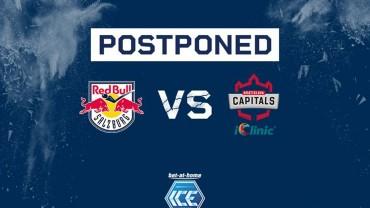 Zápas iClinic Bratislava CAPITALS vs. Red Bull Salzburg preložený