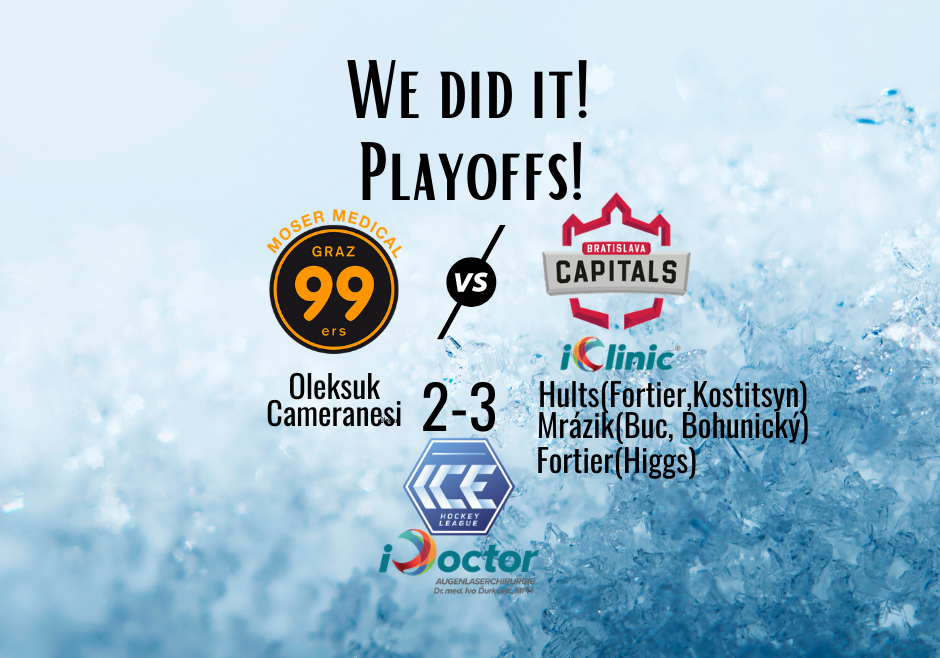 We did it! Playoffs!