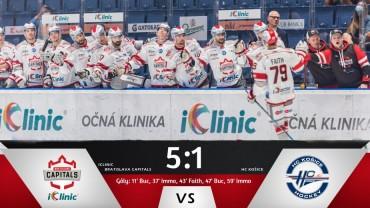 Capitals win big against Košice!