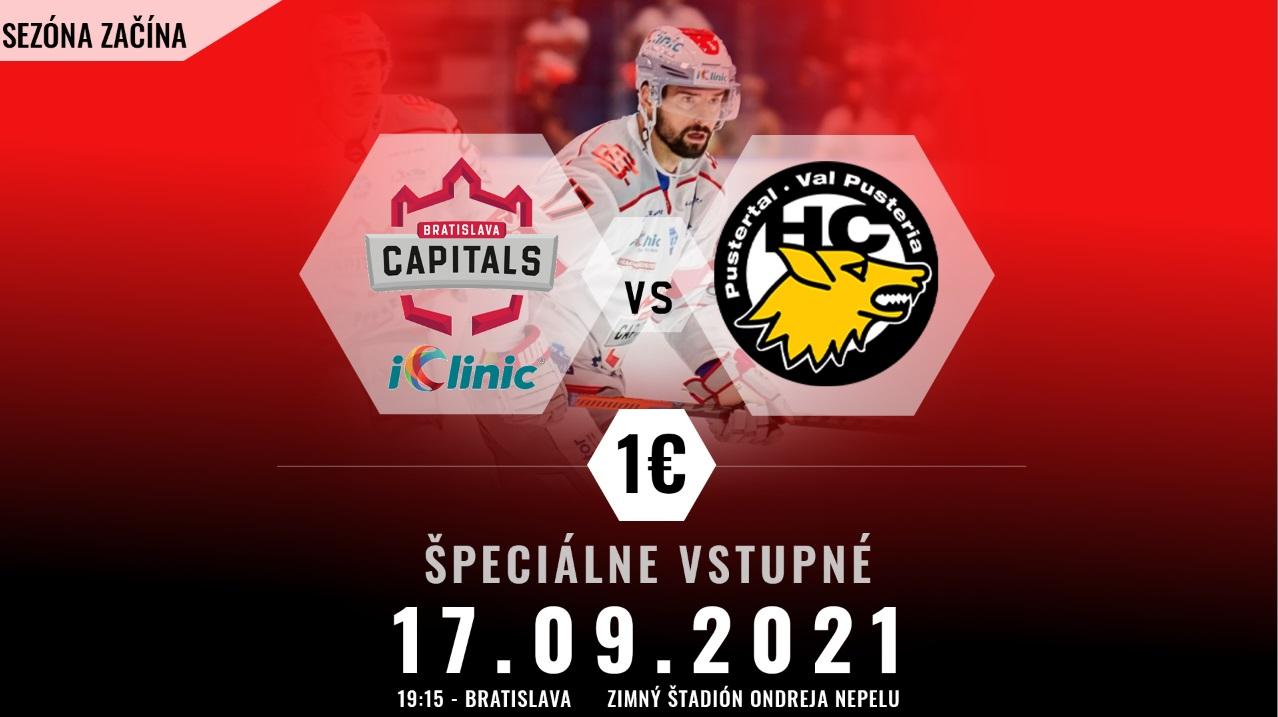 Zaži začiatok sezóny s iClinic Bratislava Capitals naživo!